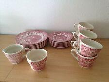 Kaffee/ Essservice EIT England in Altenglisch Castel Rot?: 20 Teilig!!!!!