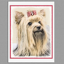6 Yorkshire Terrier Yorkie Blank Art Note Greeting Cards