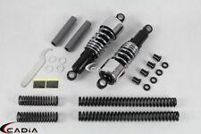 Chrome Shock Absorbers Lowering Kit For Harley Sportster 883 Custom XL883C 98-03