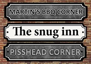 personalised Bar Sign, Metal Tin sign/plaque man cave shed garage home pub