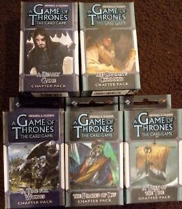 A Game of Thrones Card Game LCG Chapter Pack Bundle New