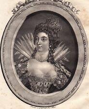 Portrait XVIIIe Catherine De Médicis Reine De France Duchesse De Bretagne 1788