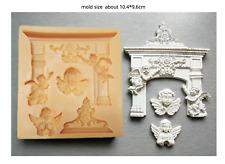 Angel Fleur De Lis Scroll Silicone Mould Chocolate Fondant Soap Clay Cake Mold