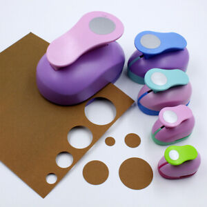 Mini Handheld Punch Paper Card Craft Cutter Shapes Stencil Making Circle Hole_