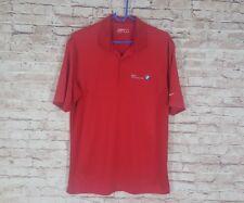 Nike Golf BMW Championship Polo Shirt Red Short Sleeve Dri-Fit Men's Medium