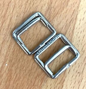 6pcs  Silver Stainless Tri Glide Roller buckle Suit Strap 20mm  24mm