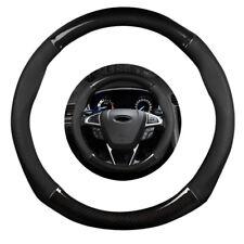 15inch 38cm Carbon Fiber Stitching Steering Wheel Cover Black Non-slip Universal