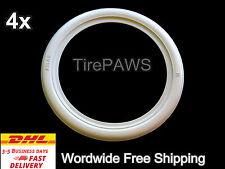 "4X 15"" Add On whitewall portawall tyre trim Set of 4 VW T4 Transporter VW bug"