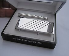 Geoffrey Beene Money Clip and Tie Bar Set, $60 Retail, Great Gift for Him!