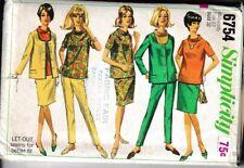 6754 SIMPLICITY c.1966 - MATERNITY: BLOUSE JACKET SKIRT PANTS - Sz 12