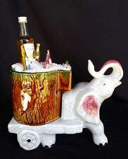 Lrg Fun Drunk Pink Elephant Beer Cart Centerpiece