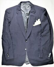 Samuelsohn Mens Blazer Suit Jacket 46 R Navy 100% Wool Formal Casual Canada EUC