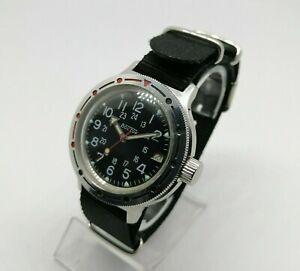 ☭ Watch Vostok 2414A Amphibian 17 Jewels Diver USSR Vintage Soviet SERVICED