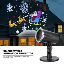 3D Christmas Animation LED Projector Lamps Decorative Outdoor Waterproof Light