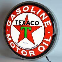 "New TEXACO Motor Oil Gasoline Texas Company LIGHT UP 15"" advertising sign ⛽⛽"