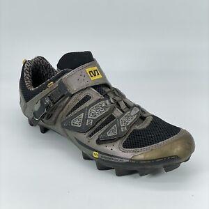 Mavic Mens Ergoride 320403 Gray 4 Bolt Cycling Road Shoes Low Top Size 11.5