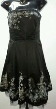FACE OFF Size 10 Black Beaded & Detailed Strapless Bodice Dress NWOT RRP $139