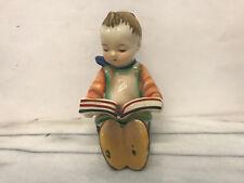 Boy Reading a Book - Glass Sculpture - Vintage