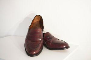 ALLEN EDMONDS Randolph Burgundy Cordovan Slip On Penny Loafers/Shoes 10.5D