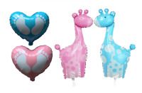 Baby Giraffe Baby Shower New Arrival Foil Helium Balloon Celebration