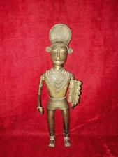 Brass Tribal Male Statue Vintage Old Antique FIgure Decor Collectible BI-49