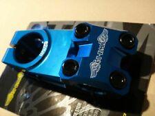 """GT BMX Bike Top Load 62mm Stem Blue Aluminum 1-1/8"""" Steerer 30mm Stack 8mm Rise"""