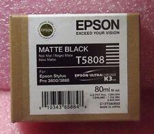NIB Genuine Epson T5808 for Pro 3800/3880 Matte Black Ink T580800 05/2014