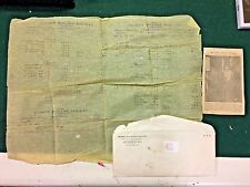 1886 Illinois Midland Railroad Waybill. Parchment paper VG