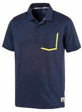 New Puma Faraday Peacoat Navy Golf Polo Shirt Xl