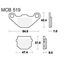 Scooter Brake Pads TRW MCB519Ec For Hercules Reggae 50 1995