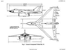AVRO VULCAN V-BOMBER HISTORIC DECLASSIFIED MANUALS archived from originals