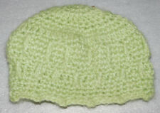 Winter Hand Knit Beanie Hat Light Green Adult Youth Unisex One Size Womens