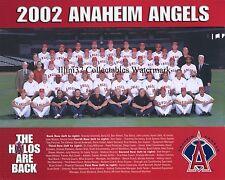 2002 ANAHEIM ANGELS BASEBALL TEAM 8X10 PHOTO