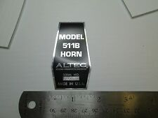 """ALTEC 511B Loudspeaker Driver  """"DECAL"""" New!"""