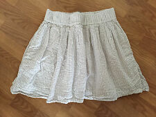 CLUB MONACO White Skirt with Light Gray Stripes - size M - made well