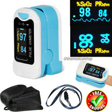 FDA OLED Fingertip Pulse Oximeter Finger Blood Oxygen SpO2 PR Heart Rate Monitor