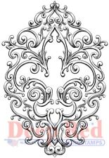 Deep Red Stamps Iron Fleur de lis Rubber Cling Stamps