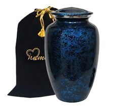 Forest Blue Cremation Urn, Large Urn, Funeral Urn, Handcrafted!