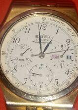 Vintage Seiko Quartz 7A38 - 7280 Chronograph Gold Watch
