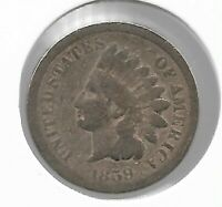 Rare Old Antique US 1859 Indian Head Penny Civil War Collection Coin Lot Y124
