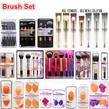 Pro Real Techniques Makeup Brushes Powder Set,Makeup Sponge Puff Cosmetic Tools