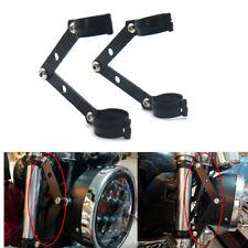 41mm Black Metal Adjustable Headlight Indicator Mounting Fork Bracket For Harley