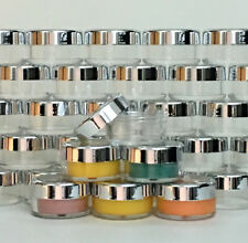 500 Cosmetic Jars Empty Beauty Containers Silver Acrylic Lids 10 Gram Ml #3011
