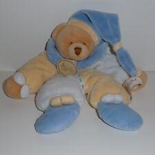 Doudou Ours Babynat Baby Nat' - Bleu Jaune