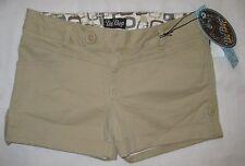 NWT Women's Be Bop Khaki Tan Folded Thigh Hem Corduroy Shorts Size 9