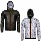 GIACCA UOMO K-WAY PELLE DOUBLE art.K005MT0 mod.JACQUES KL AIR PADDED DOUBLE