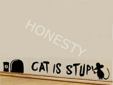 MOUSE GRAFFITI WRITER wall decal CAT IS STUPID Car decal Window glass sticker