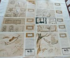 Lot 10 Series 10: 1-5,7,8,10,11,12-  Craftool DOODLE PAGE OF THE MONTH-MANY