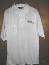 Vtg SIMPLICITY Tractor SunRunner Team Logo Polo Shirt- XL White NWOT