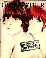 """Le Nouvel Observateur. Avril 1970. """"La société de tolérance""""."""